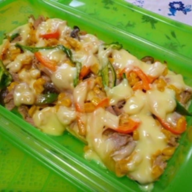 ルクエでじゃがいもとツナの味噌マヨ焼き