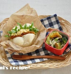 簡単!時短お弁当レシピ~超簡単♡カツバーガーお弁当~