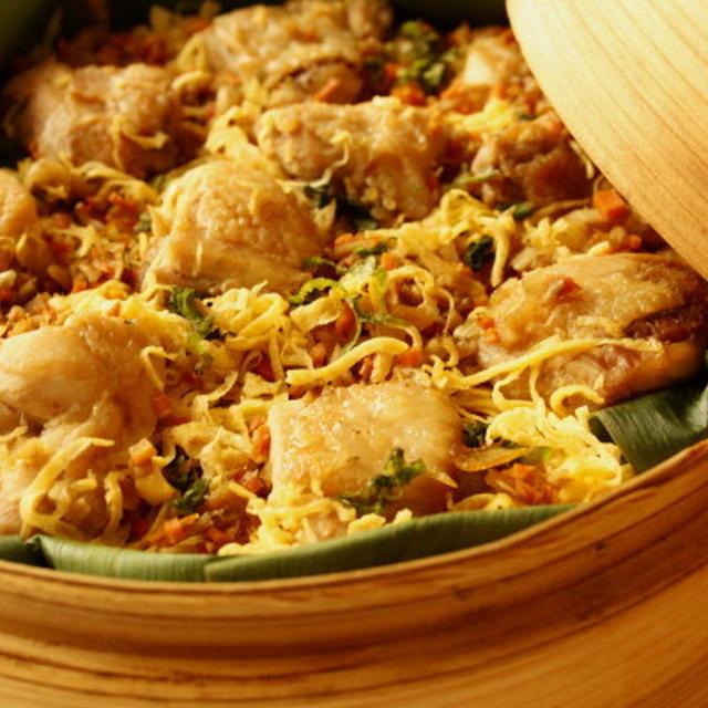 鶏ゴボウの蒸し寿司