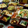 【⑥フキノトウ入り餃子/⑦フキノトウ味噌/⑦山菜の天麩羅/⑧生野菜】とおつまみ全貌編です♪ by あきさん