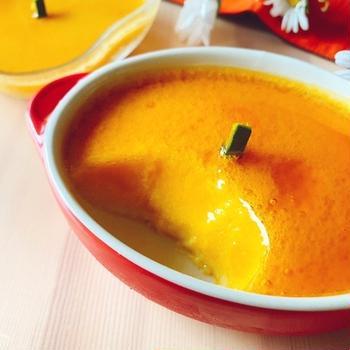 【ヘルシースイーツ】卵・乳製品不使用!とろ〜りみたらしあんで食べる濃厚かぼちゃ豆乳プリン