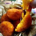 チーズのびのび〜揚げ芋かぼちゃ餅