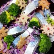 鯖とレンコンのサラダ