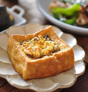 トースターで簡単!厚揚げの鯖マヨ焼き