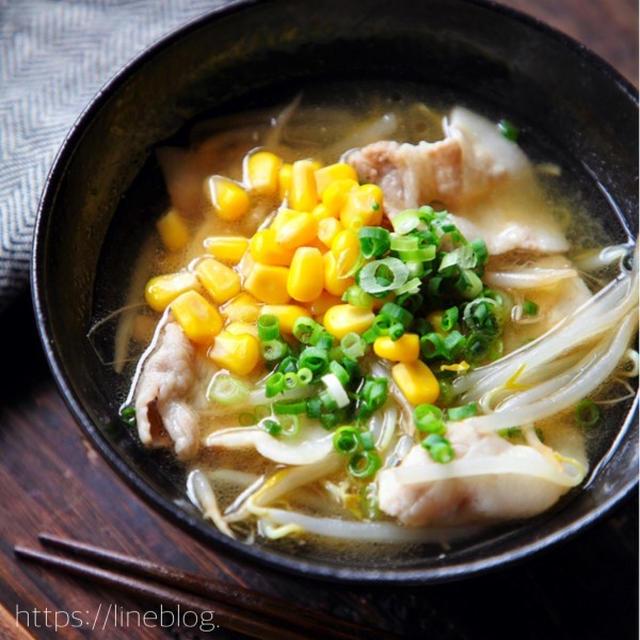 ♡コスパ抜群♡豚バラもやしの味噌ラーメン風スープ♡【#簡単レシピ#時短#節約】