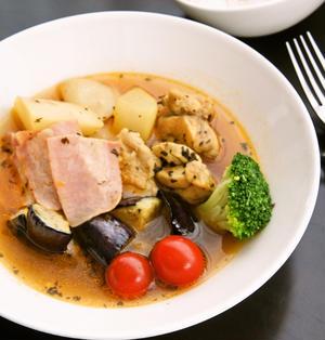 フライパン一つで作る♪簡単スープカレー