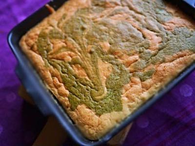 青汁マーブルケーキ