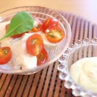 トマトと豆腐のバジルマヨディップ