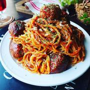 あのスパゲッティを再現❤️がっつりもりもりミートボールスパゲッティ♪