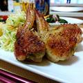 カレー炒め野菜詰め手羽チキン