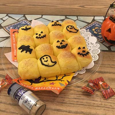 子供が喜ぶ☆カボチャとポピーシードのチョコ入りちぎりパン