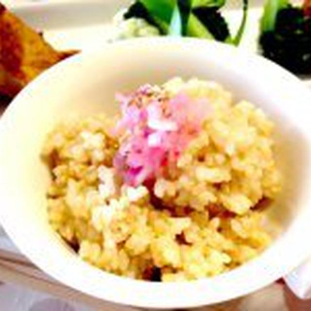 ♪mami's さわやかたまねぎごはんのおとも・トッピング玄米ごはん♪