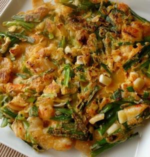 海鮮キムチチヂミ