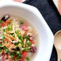タコと桜エビのオートミール雑炊