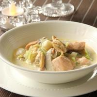 魚介のクリームスープ煮 ~生クリームで手軽に楽しむあったかスープ