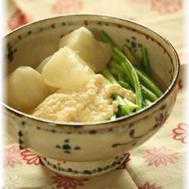 蕪のお豆腐・たらこあんかけ。 と献立。