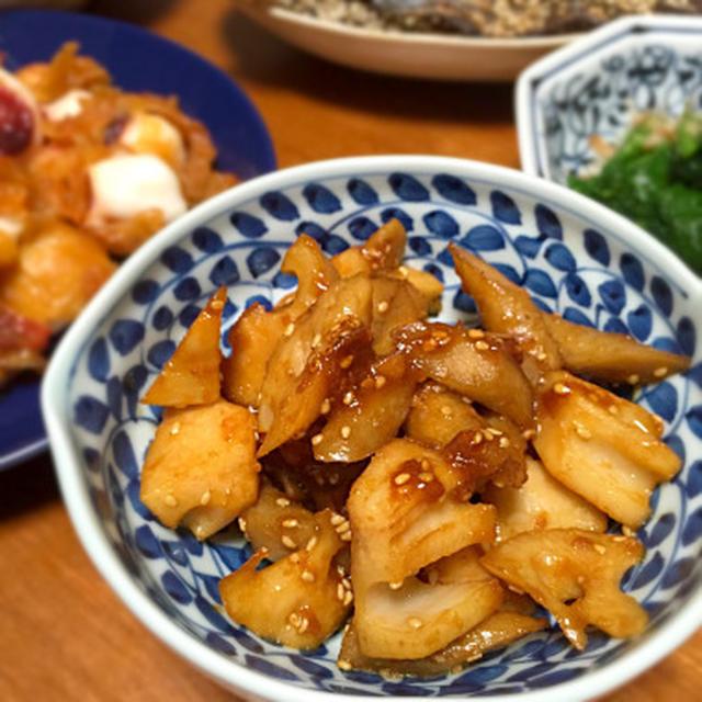 レンコンとゴボウの甘味噌炒め煮