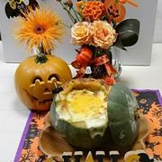 ハロウィンテーブル&丸ごとかぼちゃのポタージュグラタン