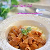 簡単♡豚バラと玉ねぎのデミソース煮込み