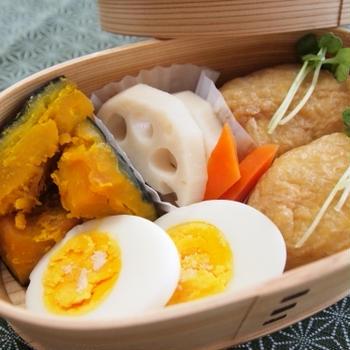 『お弁当 - いなり寿司弁当』 514kcal - 一汁三菜レシピ