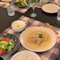 レッスンランチは「チキンとリンゴの粒マスタードソース煮」~おもてなしにもぴったりです!!