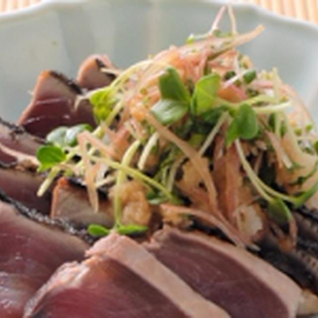 今宵の肴 @ カツオのたたき (野菜たっぷり)