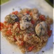 牡蠣とトマトのイタリアンリゾット