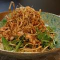 新食感‼︎「カリカリごぼうチップス」と豚しゃぶのアレンジ冷やし中華☆