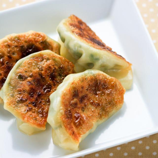 ツナと小松菜の焼きギョウザ