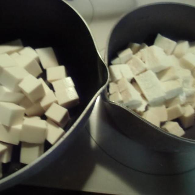 絹ごし豆腐凍らせ・解凍して麻婆豆腐を作る≪キッチン ラボ≫どっちが美味い?
