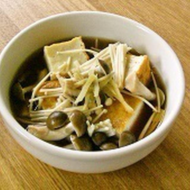 【レシピ】レンジにおまかせ! 厚揚げときのこのめんつゆ煮