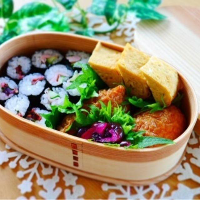 娘出勤弁当*祝日なのでお寿司弁当にしてみました♪