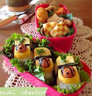 だし巻き玉子のお寿司弁当