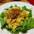 ハムとたまごのマカロニサラダ マヨ+ヨーグルトのヨーグルトスイッチでカロリーオフ