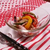 カルパッチョソースで、夏野菜とイカの和え物! #ハウス食品