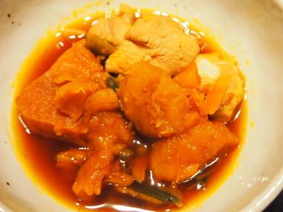 鶏むね肉とかぼちゃの煮物