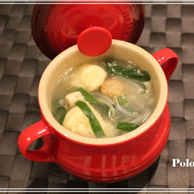 ニョッキの中華風スープ~ニシユタカ