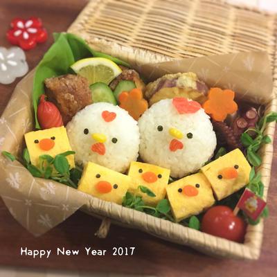 干支☆酉年☆簡単♩お正月弁当♫キャラ弁
