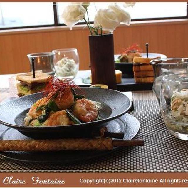 塩麹海老のアジアン炒麺