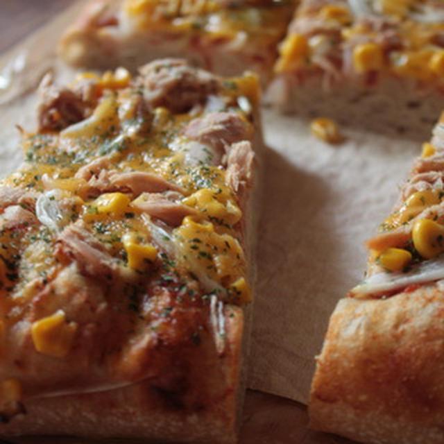 マンゴー酵母でピザ風ビッグフォカッチャ。