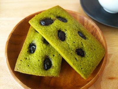 黒豆と抹茶のフィナンシェ 《お正月・おせちの黒豆リメイク》