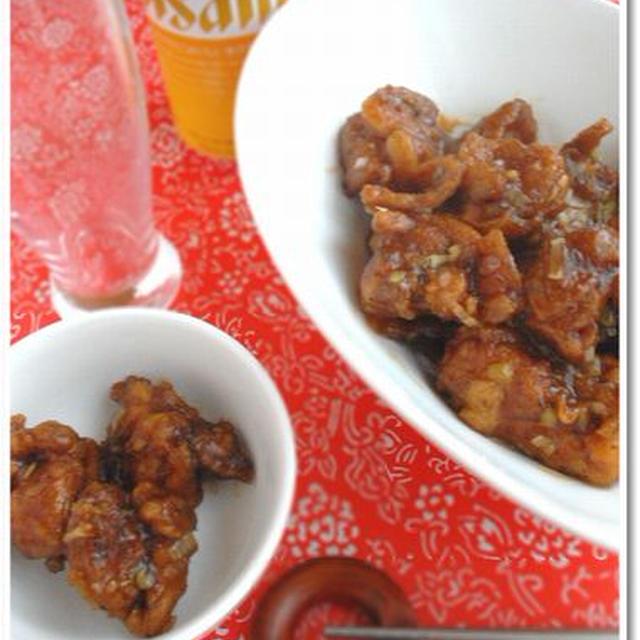 「お肉」 オレンジ甘酢のチキン