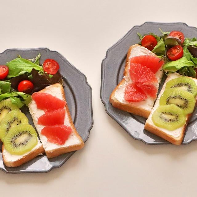 227.朝ごはんレシピ:フルーツとカッテージチーズのトースト