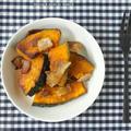 【子宝レシピ】カボチャとカリカリベーコンのオリーブオイル炒め@urara