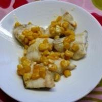 白身魚のコーンマヨ焼き