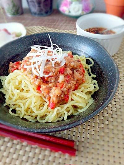 レシピ☆あるもので夏野菜ジャージャー麺