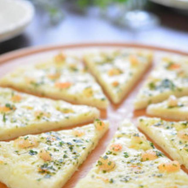 ぬるチーズで簡単!美味しい♡小エビのチーズピザ(^^)