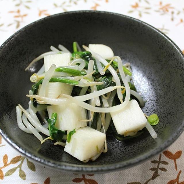 ほうれん草と長いもともやしの炒めもの 調理時間5~15分