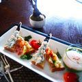 和風オープンサンド と 野菜たっぷり温泉卵で 朝ごはん by 青山 金魚さん