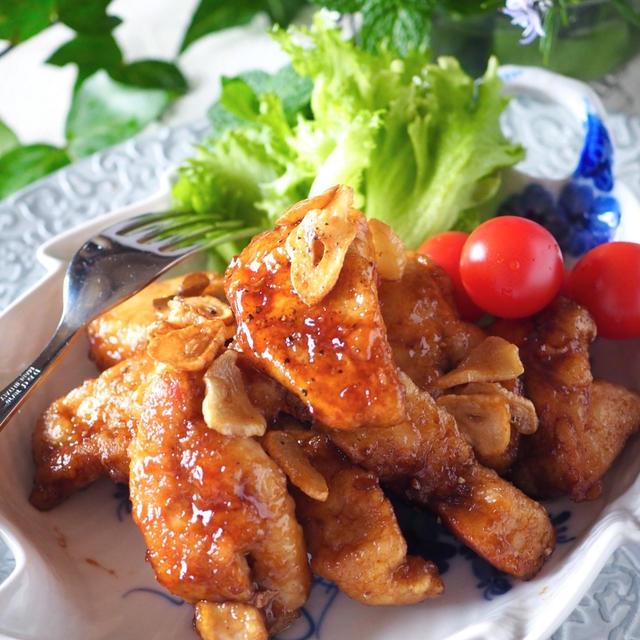 【鶏むね肉切り方ポイント図解してます】ご飯がススム鶏むね肉のガリバタポン酢